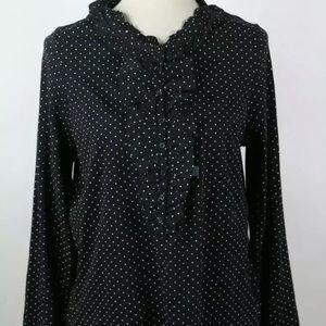 Ann Taylor loft black/white blouse, NWT, Size XL